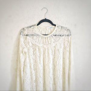 Kimchi Blue White Lace Trapeze Dress